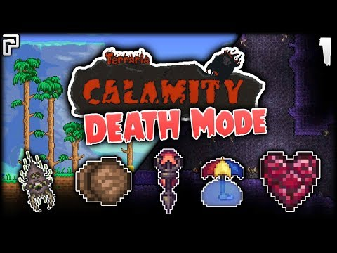 IT BEGINS! I May Regret This Later! | Terraria Calamity Mod Death Mode Let's Play [Episode 1]