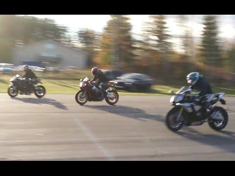 Kawasaki Ninja H2 Vs Yamaha Yzf R1m Vs Aprilia Rsv4 Youtube