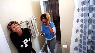 PEEING BLOOD PRANK ON GIRLFRIEND!! ALMOST CALLED 911!!! (GONE WRONG) #MOBMONTH !Dei & Joe 2017