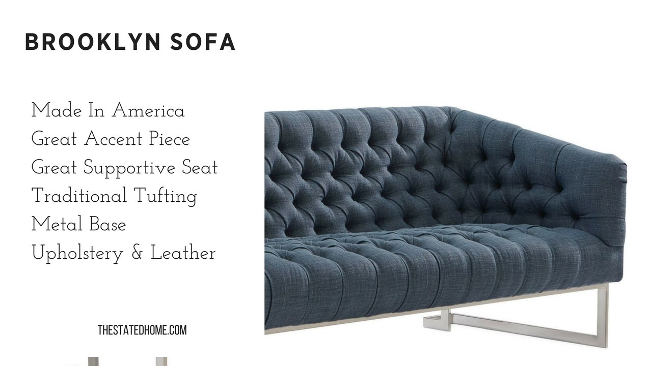 American Made Furniture >> Brooklyn Tufted Sofa Make A Statement The Stated Home American Made Furniture