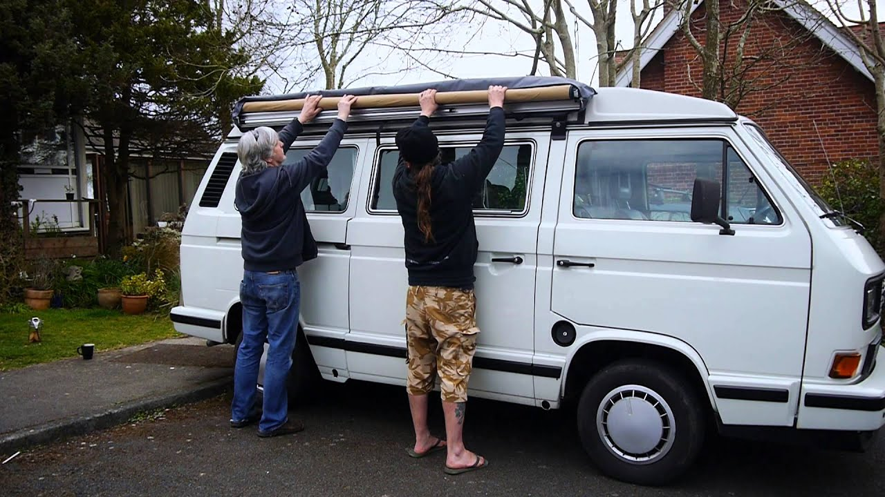 VW T25 T3 ARB Awning And Fitting Kit Made U0026 Supplied By  CampervanCulture.com   YouTube