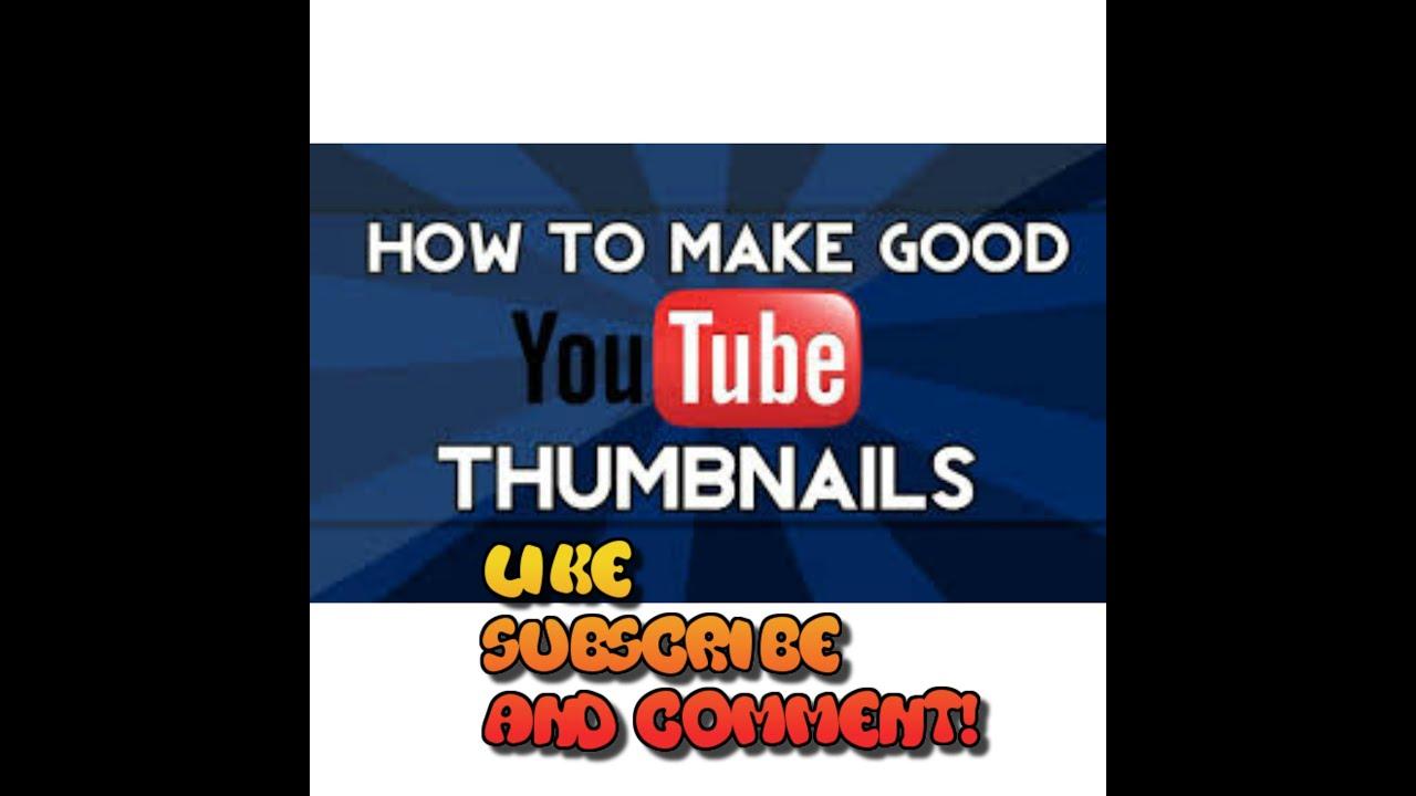 how to make a custom thumpnail