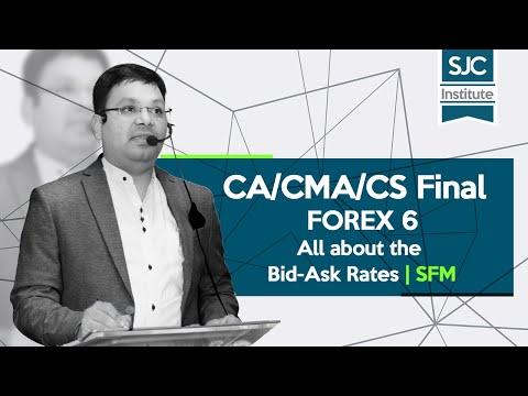 CA/CMA/CS Final - FOREX 6   All about the Bid-Ask Rates by CA, CS, CIMA - Satish Jalan Sir