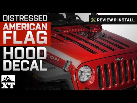 Jeep Wrangler Distressed American Flag Hood Decal (2007-2017 JK) Review & Install