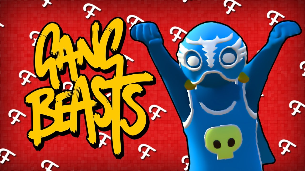 Gang Beasts: Epic Boxing Matches ft  Blue Guy Thing! (Comedy Gaming)