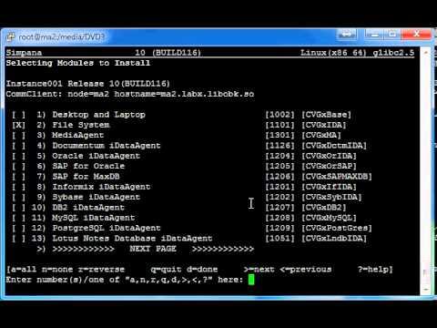 Simpana 10 SP2a ESD - MediaAgent installation on Linux