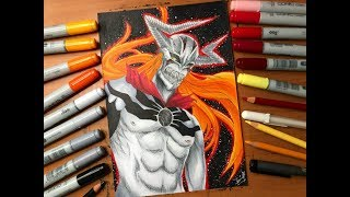 Speed Drawing - Ichigo Kurosaki Hollow Form (Bleach) [HD]