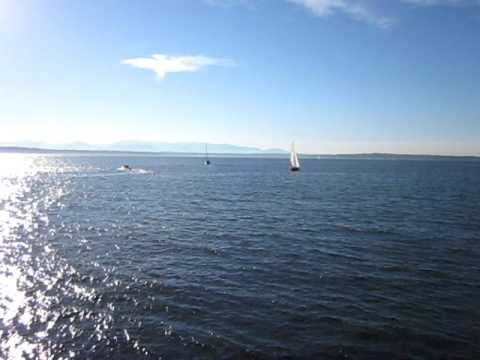 Random clip of boats just offshore from Golden Gardens Park in Seattle 09/03/2010