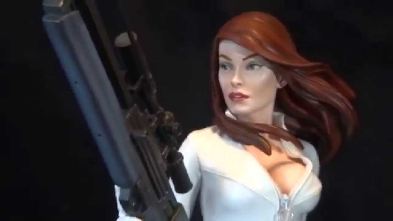 Video Review Sideshow Marvel Black Widow White Costume ...