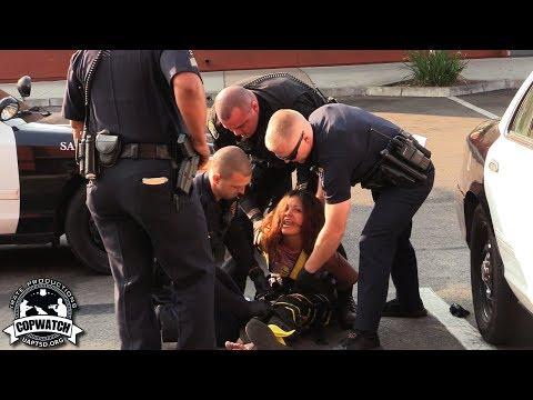 Copwatch | Woman Causing Disturbance at Taco Shop Put in Body Wrap