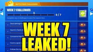 FORTNITE SEASON 5 WEEK 7 CHALLENGES LEAKED! WEEK 7 ALL CHALLENGES EASY GUIDE WEEK 7 CHALLENGES!