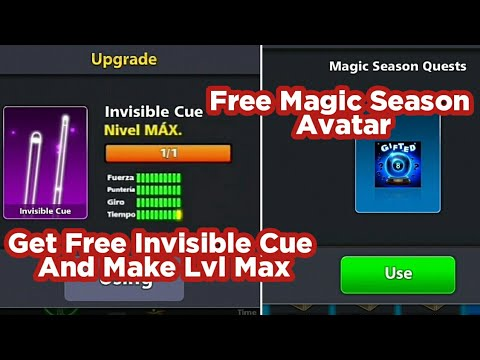 How To Get Free Invisible Cue And Magic Season Quest Aratar In 8 Ball Pool