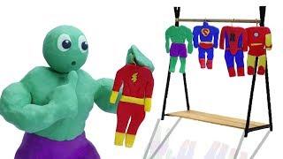 CLAY MIXER SUPERHERO CUSTUME IDEAS 💖 Animation Cartoons Play Doh