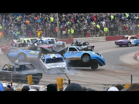 Banger Racing Arena Essex Firecracker XXV Plus Reliant Robin Bangers 6/11/2016