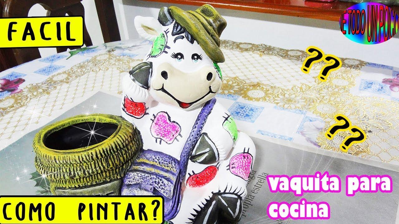 como pintar una vaca de cerámica para cocina - How to paint a cow ...