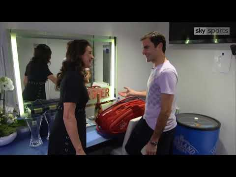 Roger Federer locker room interview with Anabelle Croft - O2 Finals 2017