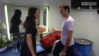 Roger Federer locker room interview with Anabelle Croft - O2 Finals 2017