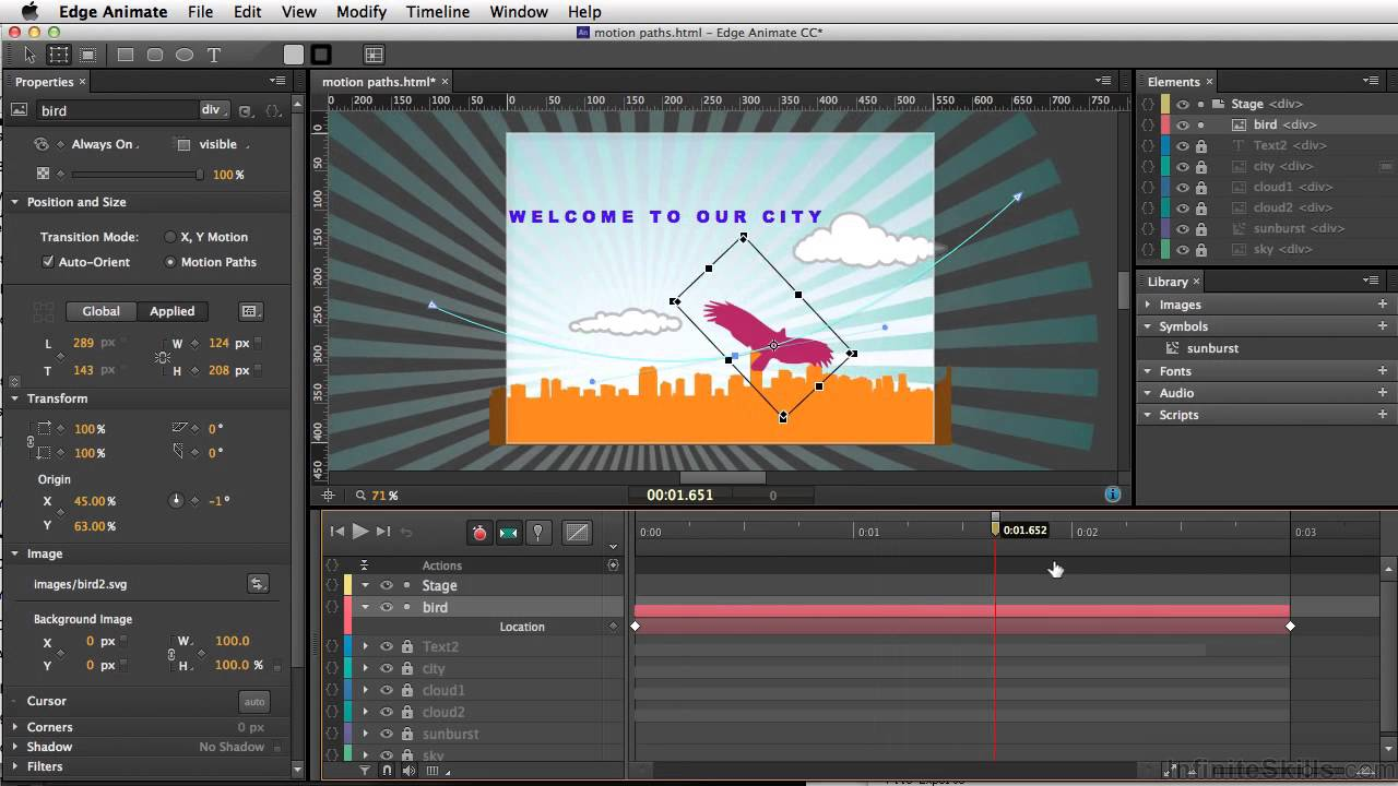 Cc Tutorial Adobe Edge Animate Cc Tutorial Motion Paths