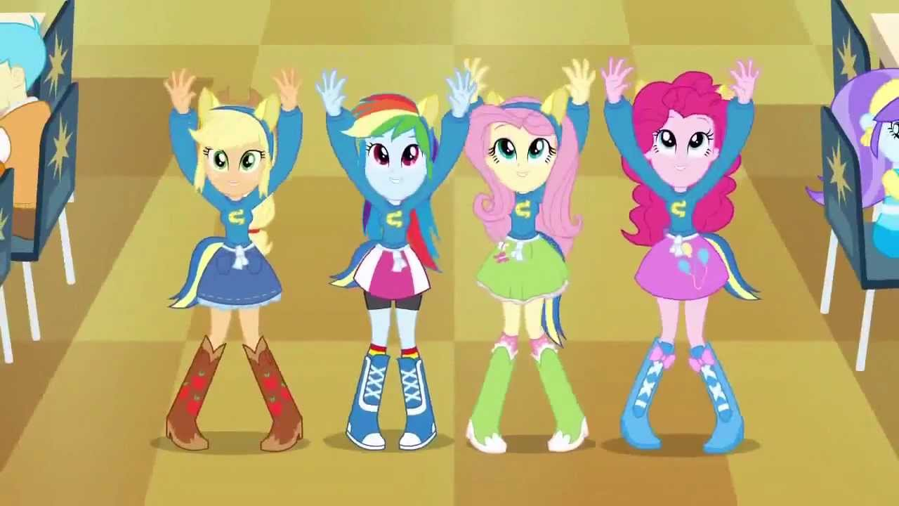 My Little Pony Equestria Girls Every Pony Equestria Girls In Get Up Get Down Hd Youtube