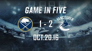 Repeat youtube video Canucks vs. Sabres Game in Five (Oct. 20, 2016)
