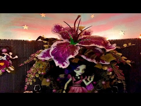 Monster High Doll House Tour Room 35 Of 40+ TERRACE GARDEN Amanita Nightshade & Gloom & Bloom Series
