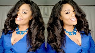 KINKY STRAIGHT withw/ full lace frontal | Blow Out Kinky Straight from HerGivenHair