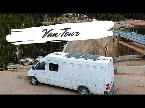 VAN TOUR | Airline Pilot shows off his Sprinter Van build | Living in the van I built for a year!