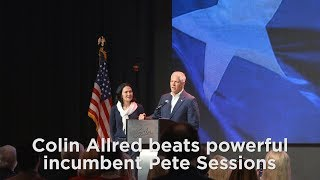 Former NFL player Colin Allred beats powerful incumbent Pete Sessions for Congress