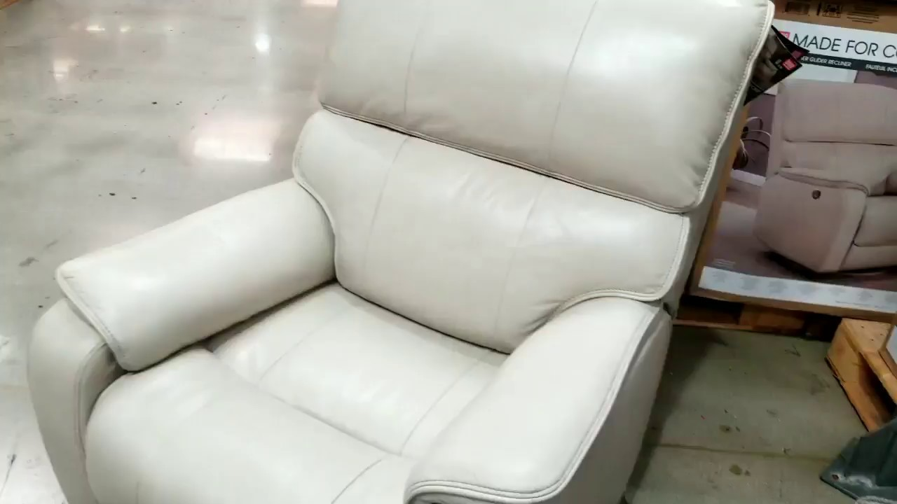 Costco Leather Chairs Dining Chair Covers Target Au Power Recliner W Usb White 449 Youtube