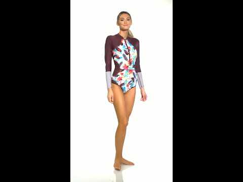 ff50fbdab10 Body Glove Active Wind Of Change Paradise Front Zip Long Sleeve Paddle Suit  | SwimOutlet.com