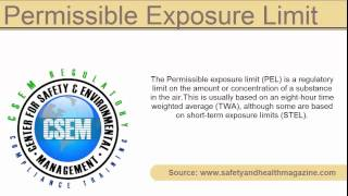 definition - Permissible Exposure Limit (PEL)