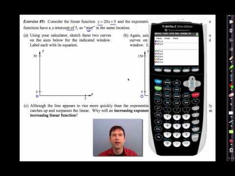 Common Core Algebra Iunit 6lesson 8near Versus Exponential By
