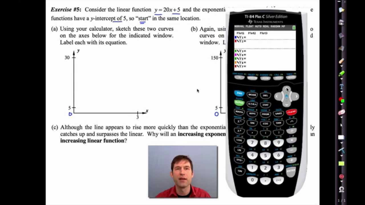 Common Core Algebra I Unit #6 Lesson #8 Linear Versus Exponential by  eMathInstruction