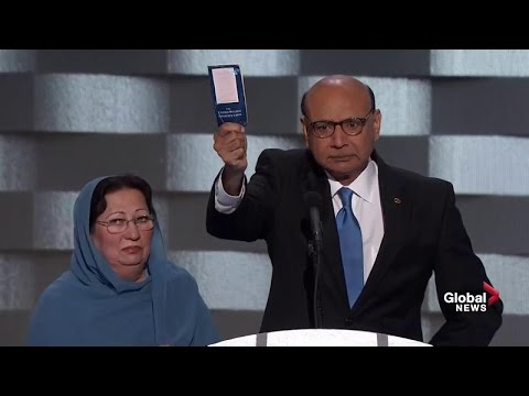 Father of U.S. Muslim soldier killed in Iraq blasts Donald Trump, offers him copy of constitution