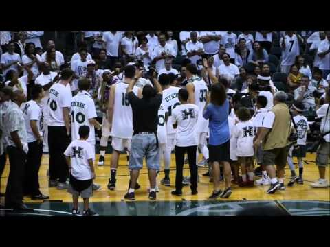 click2ed videos: Hawaii Rainbow Warriors Basketball - Senior Night 2-27-16