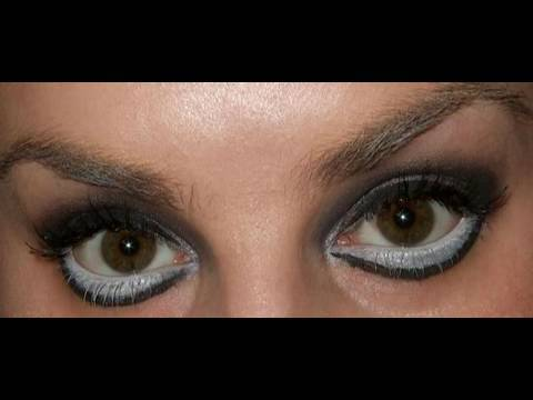 Lady GaGa Bad Romance big eyes makeup tutorial