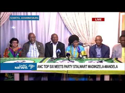 ANC top six briefs the media on meeting with Mama Winnie