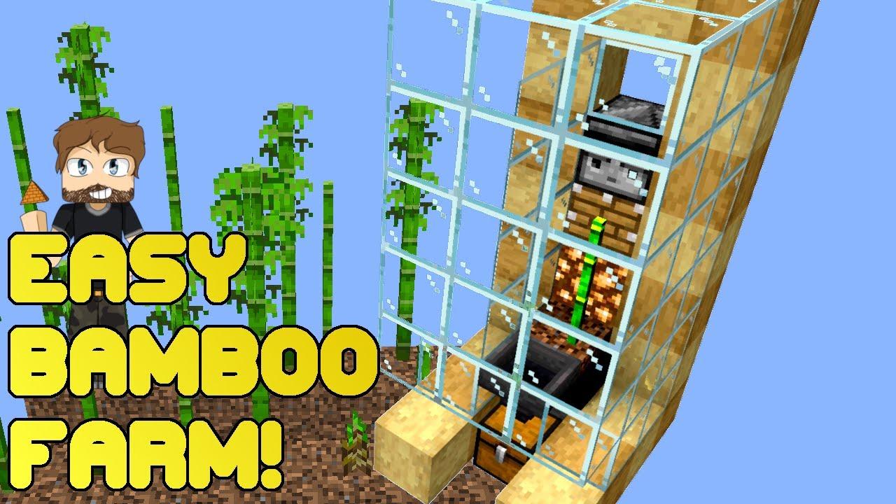 EASY BAMBOO FARM TUTORIAL 🎍 Minecraft 1.14 - YouTube