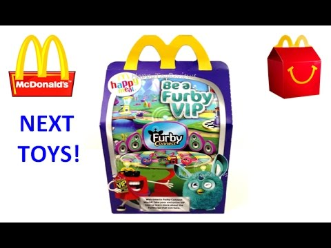 2017 McDONALD'S NEXT HAPPY MEAL TOYS AFTER FURBY CONNECT ...