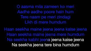Jeena Jeena   Karaoke   Key : Original   Atif Aslam   Badlapur