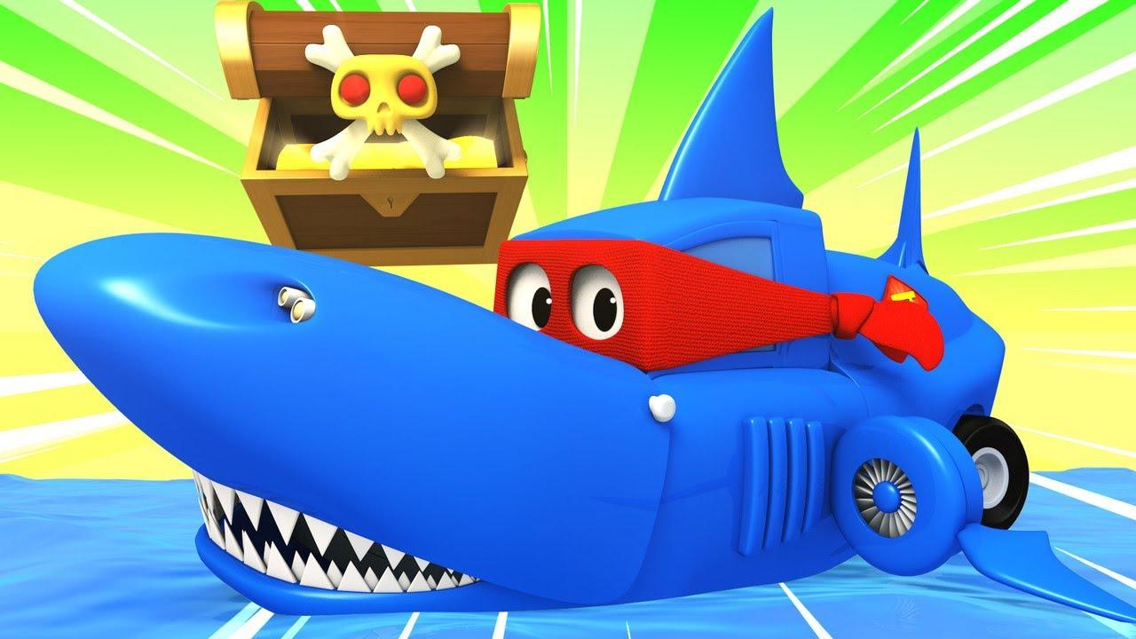 Детские мультики с грузовиками - Грузовик с акулами ...