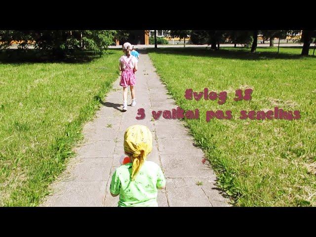 #vlog 38 - 3 vaikai pas senelius / laimingi vaikai / Vegan Pipiras