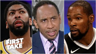 I'm getting suspicious! - Stephen A. has questions about Kevin Durant and Anthony Davis | First Take