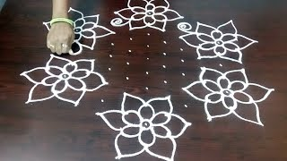 New Rangoli Kolam Design With 11 x 6 Dots || Chukkala Muggulu Design  || Fashion World