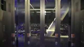 東京スカイツリー シースルーエレベーター TOKYO SKYTREE