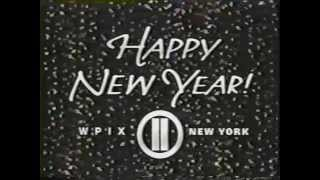 WPIX ch 11 TWILIGHT ZONE Bumper and Happy New Year 1989