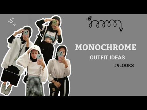Monochrome Outfit Ideas 2020 by Happy Rachmi Utami - YouTube