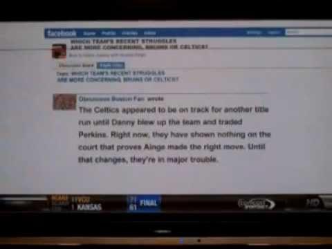 Perkins Trade Celtics Prediction - Obnoxious Boston Fan (from the archives March 27, 2011)