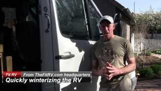 How to Quickly Winterize your RV