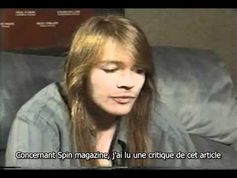Part 4 – Interview d'Axl sur Use Your Illusion – mai 1991 – VOST